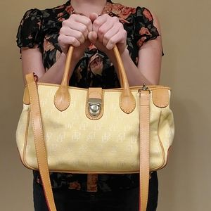 Vintage Yellow Dooney and Bourke Purse